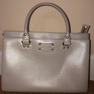 Gray Kate Spade Handbag